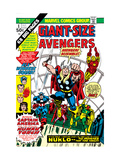Giant-Size Avengers 1 Cover: Thor  Captain America  Iron Man  Vision and Scarlet Witch Charging