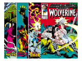 Marvel Comics Presents No4 Cover: Wolverine  Razorfist  Marvel Babies and Spider-Man Fighting