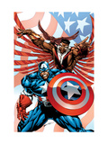 Captain America And The Falcon No2 Cover: Captain America and Falcon