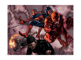 Daredevil 60 Group: Daredevil  Spider-Man  Iron Fist  and Luke Cage Fighting