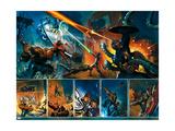Secret War No4 Group: Thing  Captain America  Mr Fantastic  Invisible Woman and Fantasticar
