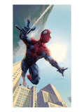 Spider-Man: House Of M 1 Cover: Spider-Man Swinging