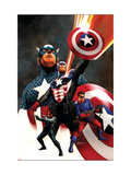 Captain America 600 Cover: Captain America and Bucky