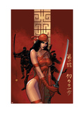 Elektra The Hand No1 Cover: Elektra Fighting