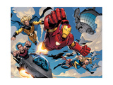 The Mighty Avengers 8 Group: Iron Man  Ms Marvel  Sentry and Wonder Man