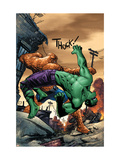 Marvel Adventures Hulk No11 Cover: Hulk and Thing