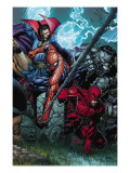 Ultimatum No4 Cover: Spider-Man  Daredevil  Dr Strange and Hulk