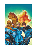Marvel Adventures Fantastic Four No48 Cover: Invisible Woman  Mr Fantastic  Thing and Human Torch