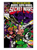 Secret Wars No6 Cover: Dr Doom  Absorbing Man  Lizard  Doctor Octopus  Wrecker and Ultron