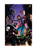 Marvel Adventures Avengers No28 Cover: Captain America  Giant-Girl  Spider-Man and Wolverine