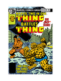 Marvel Two-In-One No50 Cover: Thing Fighting