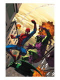 Marvel Age Spider-Man No16 Cover: Spider-Man and Green Goblin