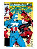 Amazing Spider-Man 323 Cover: Captain America and Spider-Man