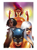 Marvel Divas No2 Cover: Hellcat  Black Cat  Photon and Firestar