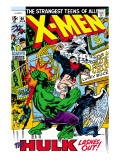 X-Men No66 Cover: Hulk  Beast  Iceman and Angel