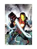 Iron Man vs Whiplash No4 Cover: Iron Man