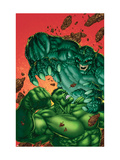 Marvel Age Hulk No4 Cover: Hulk and Abomination