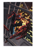 Marvel Age Spider-Man No15 Cover: Spider-Man and Daredevil