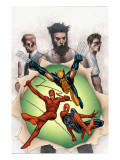 Powerless No6 Cover: Wolverine  Daredevil  Matt Murdock  Spider-Man  Peter Parker  Logan