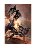 Dark Avengers No9 Cover: Ares and Nick Fury