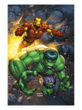 Marvel Team-Up No4 Cover: Hulk and Iron Man