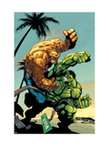 Tales Of The Thing No2 Cover: Thing and Hulk Fighting