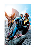 Avengers No82 Cover: Captain America  Hawkeye  Falcon  Iron Man  Vision  Scarlet Witch & Avengers