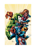 Marvel Adventures Avengers 8 Cover: Captain America
