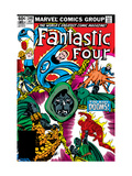 Fantastic Four 246 Cover: Dr Doom  Mr Fantastic  Invisible Woman  Human Torch and Thing Fighting