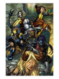 X-Infernus No2 Cover: Darkchylde  Colossus  Wolverine  Nightcrawler  Pixie and Mercury
