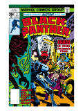 Black Panther No3 Cover: Black Panther  Princess Zanda  Hatch-22  Little and Abner Charging