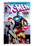 Uncanny X-Men No268 Cover: Black Widow  Wolverine and Captain America