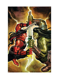 Incredible Hulk No607 Cover: Red She-Hulk and Skaar