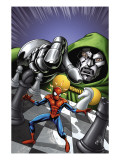 Marvel Adventures Spider-Man No9 Cover: Spider-Man and Dr Doom