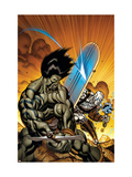 Skaar: Son Of Hulk No7 Cover: Skaar and Silver Surfer