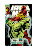 Iron Man No305 Cover: Iron Man and Hulk Fighting