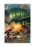 Incredible Hulk No71 Cover: Hulk and Iron Man