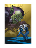 Dark Reign: Fantastic Four No4 Cover: Green Goblin  Richards  Franklin  Richards and Valeria