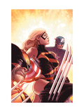 New Avengers No17 Cover: Ms Marvel  Captain America and Wolverine