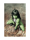She-Hulk No3 Cover: She-Hulk Crouching