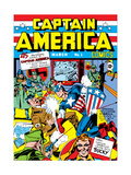 Captain America Comics 1 Cover: Captain America  Hitler and Adolf