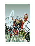 Giant-Size Marvel TPB Cover: Thor  Captain America  Iron Man  Vision and Scarlet Witch Charging