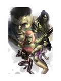 Hulk Family: Green Genes No1 Cover: Hulk  She-Hulk  Skaar  Scorpion and Daughter Of Hulk