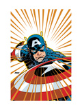 Captain America V4  27 Cover: Captain America Fighting
