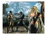 Wolverine 55 Group: Cyclops  Wolverine  Emma Frost and Sabretooth Fighting