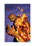 Fantastic Four No56 Cover: Thing and Human Torch