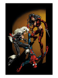 Ultimate Spider-Man No84 Cover: Spider-Man  Black Cat and Elektra