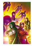 Doctor Doom and The Masters of Evil No4 Cover: Dr Doom  Magneto and Sentinel