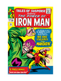 Tales Of Suspense 55 Cover: Iron Man and Mandarin Fighting