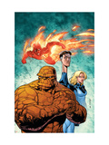Marvel Adventures Fantastic Four No43 Cover: Thing  Mr Fantastic  Invisible Woman and Human Torch
